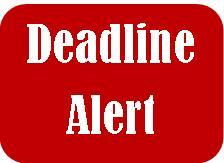 Deadline Alert!